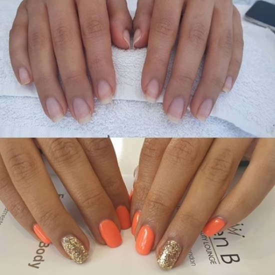 gel nails after care Natural Nails before and after Queen B