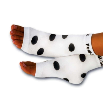 Pedisox polka dots black white Queen B London