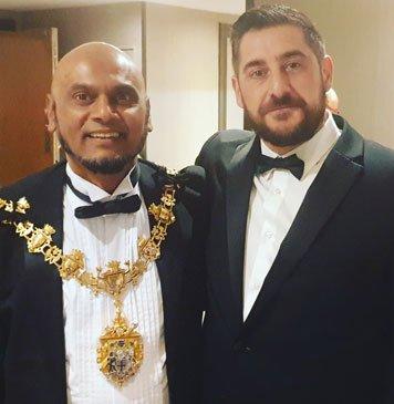 Peter Borg and Mayor Humayun Kabir