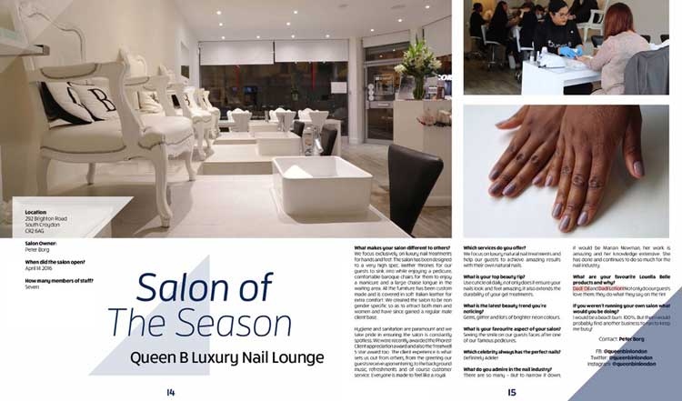 Reviews Queen B Luxury Nail Lounge Salon of the Season