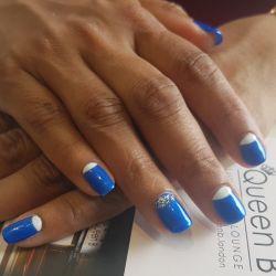 Queen B Gel manicure reverse french Croydon