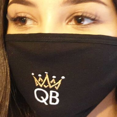 queen b fabric face mask